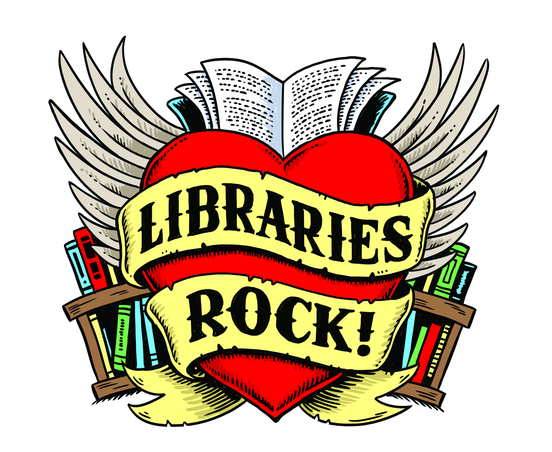 Libraries Rock! logo